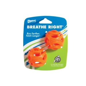 Pack of 2 Chuckit ! Small Breathe Right Ball  Dog Balls Fits Chuck it Puppy
