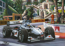 Art Card 2000 McLaren MP4/15 #2 David Coulthard winner Monaco Toon Nagtegaal OE