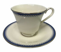 Minton Clifton Platinum Trimmed Blue Polka Dotted Cup and Saucer