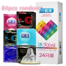 Lots 84Pcs Condom Men Latex Condoms Top Quality G Spot Condom Delay Big Particle