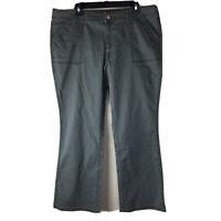 Lot of 2 Sonoma Bootcut Khaki Pants Gray & Tan Color Women's Size 16 Short