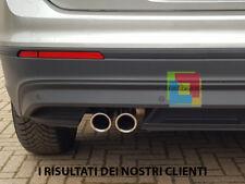 2x TERMINALI DI SCARICO VW TIGUAN DAL 2016 IN POI INOX CROMATI LOOK RLINE