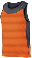 2XU Mens Ice X Singlet, Sunburst Orange Print/Ink, Large
