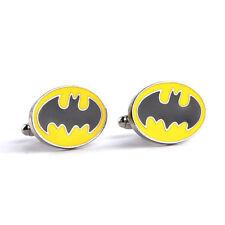 New DC Comics Batman Bat Symbol Retro Logo Symbol Cufflinks Suit Gift Bag