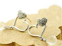 Cristal brillant / pierre boucle d'oreille coeur designs multiples