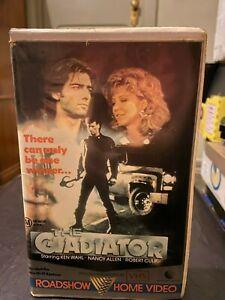 The Gladiator VHS ex-rental video tape Village Roadshow Ken Wahl Nancy Allen HTF