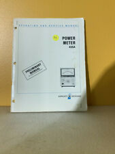 Hp 00435 90004 435a Power Meter Operating And Service Manual