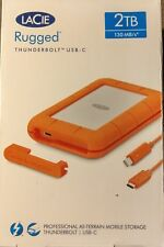 *BRAND NEW* LaCie Rugged 2TB Thunderbolt External USB 3.1 Portable Hard Drive