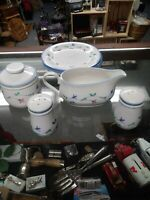 Portofino Blue by Savoir Vivre Sugar Bowl/ gravy boat/salt & pepper shaker.