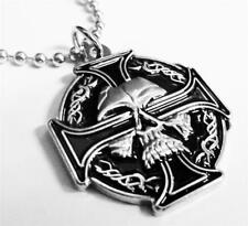 CELTIC IRON CROSS SKULL German Biker Harley Sniper WW2 WW1 Pendant Necklace