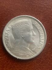 More details for latvia1932 5 lati silver crown coin ef condition