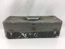 Vintage Aluminum Tool Box Fishing Tackle Box Old Distressed Movie Set Decoration