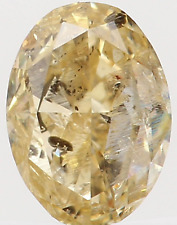 Natural Loose Diamond Oval I1 Clarity Orange Yellow Color 4.40 MM 0.26 Ct KR797