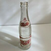 Vintage Sparkling Pepsi Cola 10oz Glass Wave Bottle Hickory, NC LGW A55