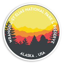 2 x 10cm Wrangell St Elias Vinyl Stickers - Alaska USA America Sticker #20568