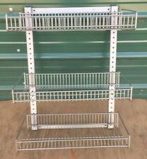 Wall Mount Wire Rack Basket Shelves 3 Tier pegboard display merchandise snack