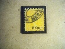 "USA Used, 1929 Issue, 10 Cent Monroe, Org-Yelllow, ""Nebr"" Overprint"