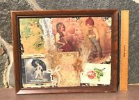 Victorian Style Collage Featuring Antique Post Cards Christmas Cards Morton Salt