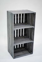 Darla's Studio 66 Antique Gray Stained 3 Tier Turntable Stand