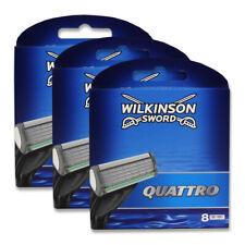 24x Wilkinson Quattro Plus Rasierklingen Ersatzklingen Herren 3x 8er Packung