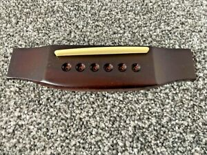 Acoustic guitar saddle Hardwood with recessing for bridge pins- by Westfield