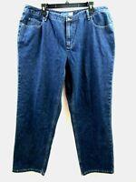 Liz Claiborne Woman Straight Leg Fit 18 Petite Jeans Relaxed Waist & Thigh