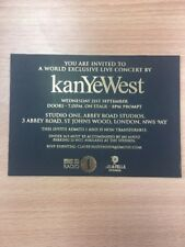Kayne West Exclusive used live concert invite