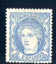SELLOS DE ESPAÑA 1870 Nº 112 EFIGIE ALEGÓRICA DE ESPAÑA NUEVO 2 certificados
