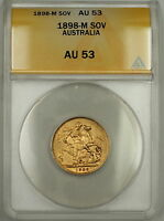 1898-M Australia Sovereign Gold Coin ANACS AU-53