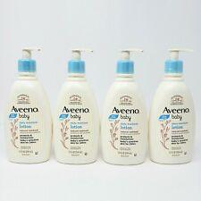 Lot of 4 Aveeno Baby Daily Moisture Lotion Fragrance Free Oatmeal 12 oz ea New