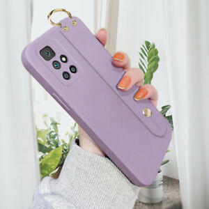 Case For Xiaomi/Redmi Liquid Silicone Shockproof Rubber Cover With Wristband