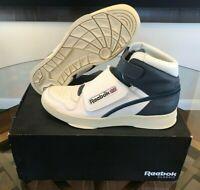RARE Reebok Alien Stomper Mid Shoes NIB White / Royal Blue AQ9799 Men's Size 10