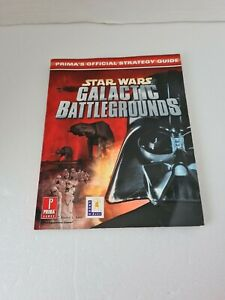 Star Wars Galactic Battlegrounds: Prima's Official Strategy Guide Book VERY RARE