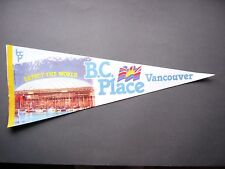 1983 B.C PLACE STADIUM FOOTBALL SOCCER PENNANT BC LIONS VANCOUVER WHITECAPS NICE