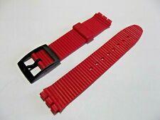 cinturino rosso-nero  gomma a righe x swatch 17 mm gent strap band correa