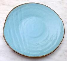 Piatto pari in Ceramica creato dipinto Mano Turchese mediterraneo gres ESAURITO