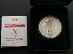 2000 Australia Sydney Olympic 31.6g ( 99.9% ) $5 Coin Platypus & Waterlily