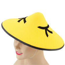 CHINESE MANDARIN #YELLOW HAT FANCY DRESS BOOK DAY ACCESSORY