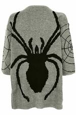 Rockabilly 50's grey black Spider Jumpers  Skull Punk Goth Dress BNWT one size