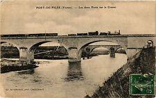 CPA Port-de-Piles - Les deux Ponts sur la Creuse (255729)