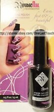 REPUBLIC NAIL* Polish/Color CRACKLE Overcoat Enamel BLACK Discontinued NEW!