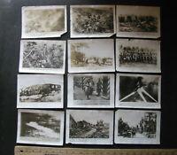 WWI ORIGINAL (12) WAR PHOTO LOT 5x7 Commercial Set GERMAN FRENCH US ZEPPELIN