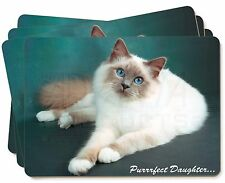 Birman Cat 'Purrrfect Daughter' Picture Placemats in Gift Box, PD-85P