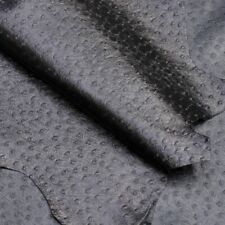 Black Ostrich Kid Hide, 4 sq ft, 0.4-0.6mm thick, for purses, wallets and bags