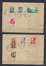1948 Germany/Rhine Scott 6N1-6N15 spread over 4 covers to Irvington, N.J.