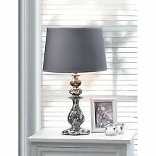 modern revamp weathered finish ceramic table lamp lighting accent fabric shade