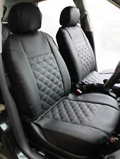 VW CADDY Front Pair of Luxury KNIGHTSBRIDGE LEATHER LOOK Car Seat Covers