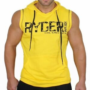 New Men Summer Muscle Sport Hooded Vest Breathable Sleeveless Gym Training Suit