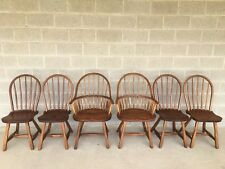 HUNT COUNTRY FURNITURE SET OF 6 HOOP BACK DINING CHAIRS/WINDSOR CHAIRS