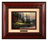Thomas Kinkade A Peaceful Retreat Framed Brushwork (Brandy Frame)